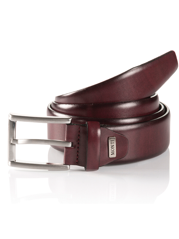 Monti London Bordeaux Leather Belt
