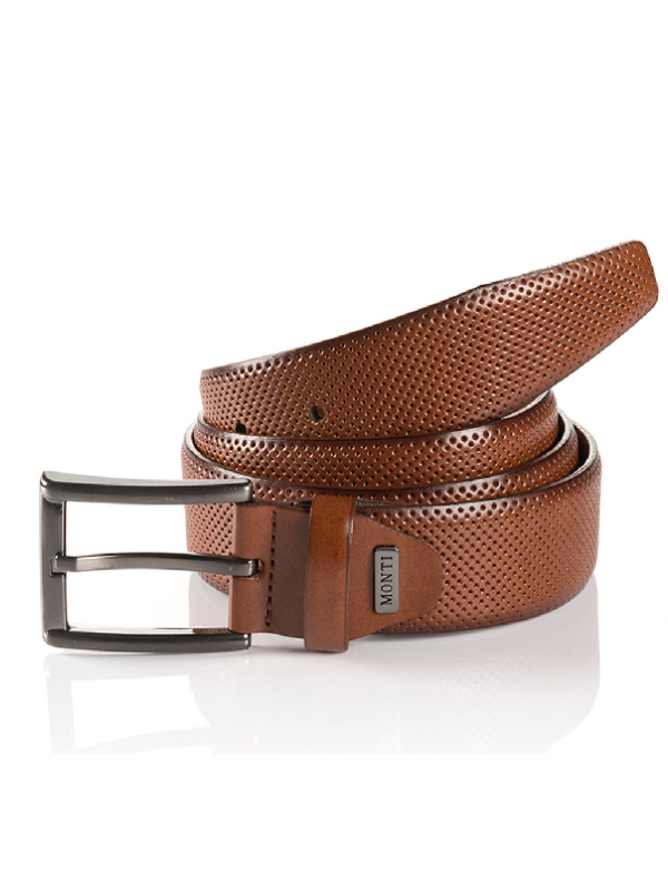 Monti Dublin Cognac Leather Belt