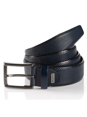 Monti Dublin Navy Leather Belt