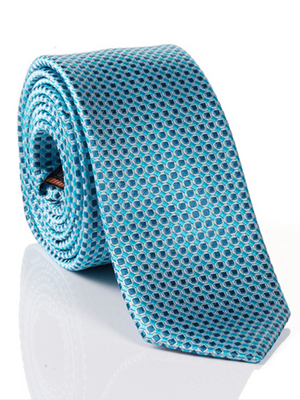 Monti Light Aqua Micro Dot Silk Tie