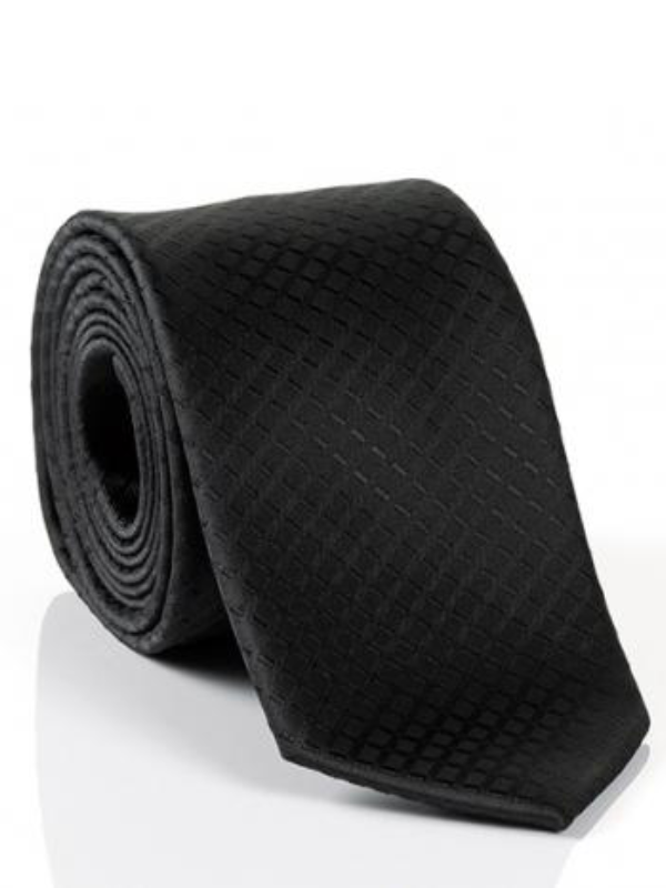 Monti Black Embossed Tie