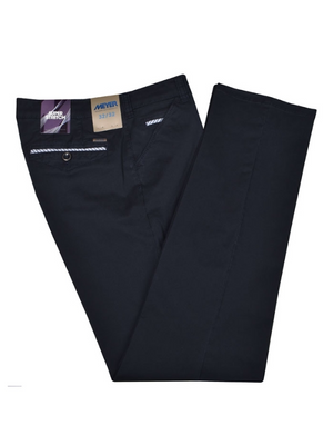 Meyer Oslo Navy Trousers