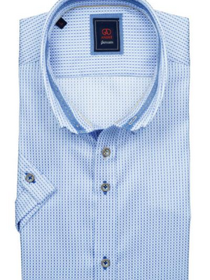 Andre Jake Blue Short Sleeve Shirt