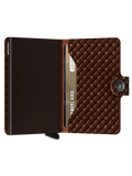 Secrid Dark Brown Basket Weave Mini Wallet