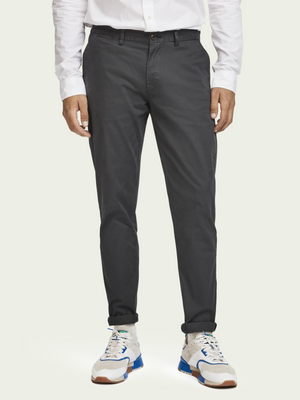 Scotch & Soda Charcoal Regular Fit Chino
