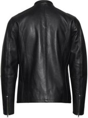 Tailored & Originals Black Leather Jacket