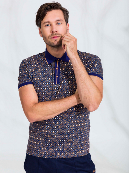 4funkyflavours Cobalt Print Polo