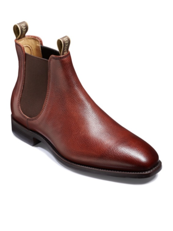 Barker Cherry Grain Chelsea Boot