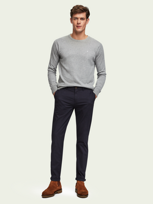 Scotch & Soda Mott Slim Fit Navy Chinos
