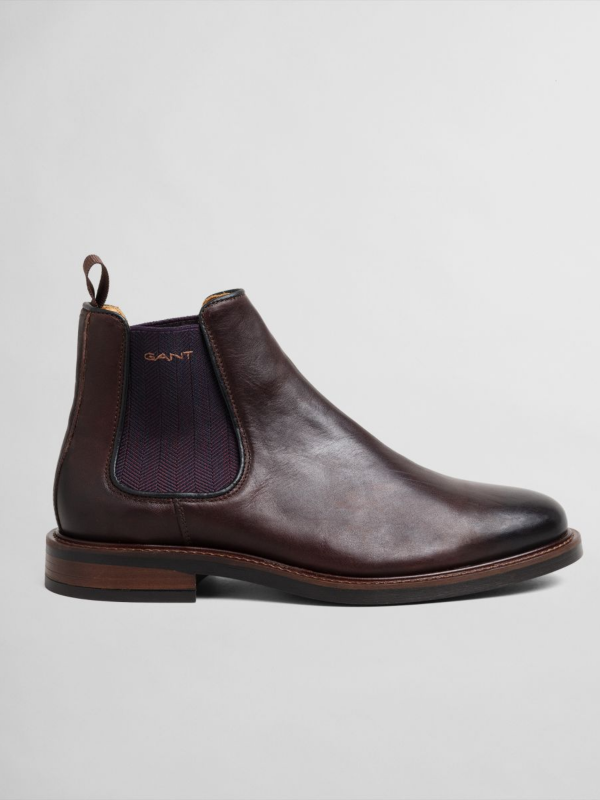 GANT Cognac Leather Chelsea Boot