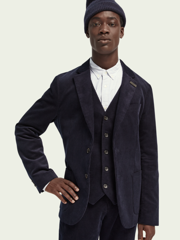 Scotch & Soda Dark Navy Cord Blazer