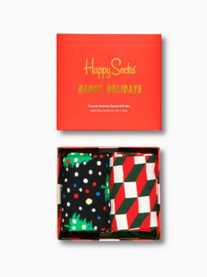 Happy Socks 2 Pack Holiday Socks