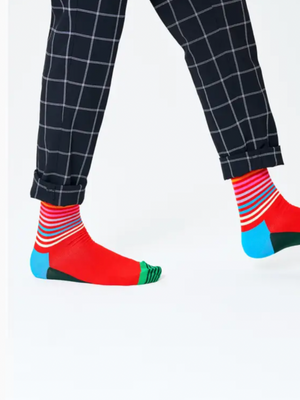 Happy Sock Half Stripe Socks
