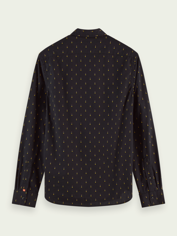 Scotch & Soda Black Printed Shirt