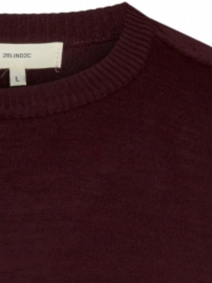 2BLIND2C Burgundy Crewneck