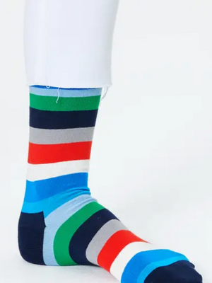 Happy Socks Navy Stripe Socks