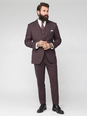Gibson London Burgundy Suit