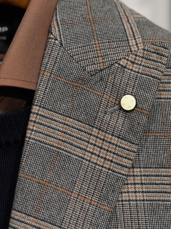 2BLIND2C Check Blazer