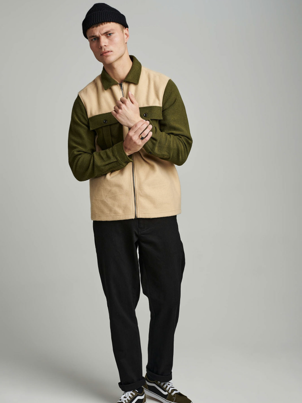 Anerkjendt Colour Block Overshirt