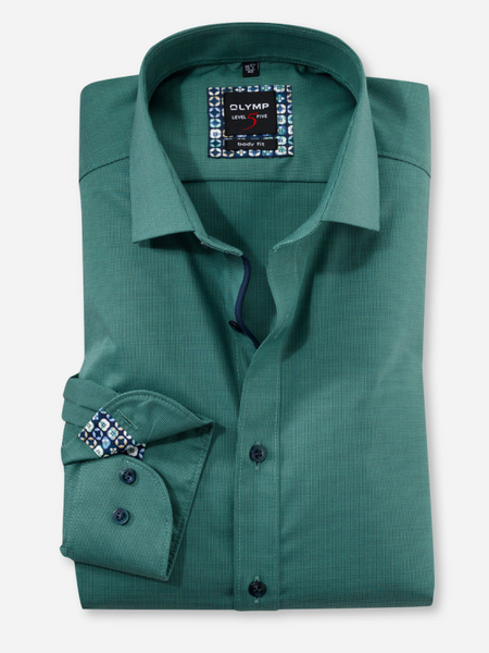 Olymp Green Body Fit Shirt