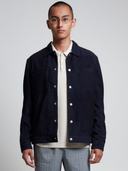 Casual Friday Navy Suede Jacket