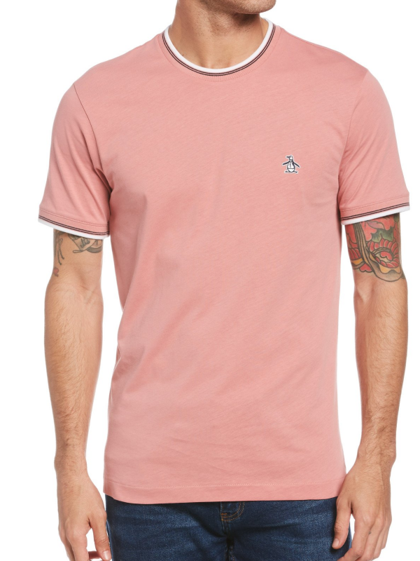 Original Penguin Dusty Rose Ringer T-Shirt