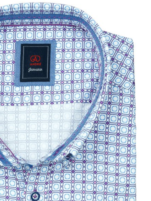 Andre Jack Print Short Sleeve Shirt