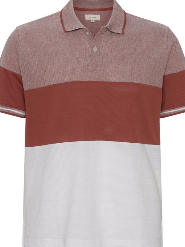 2BLIND2C Dark Pink Block Striped Polo