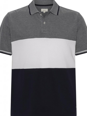 2BLIND2C Navy Block Striped Polo