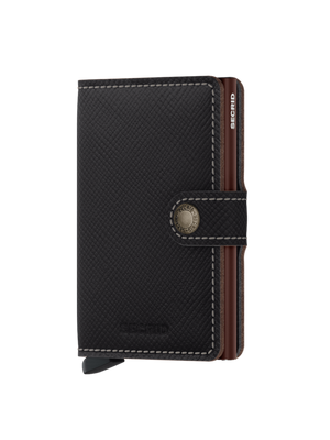 SECRID Saffiano Brown Mini Wallet