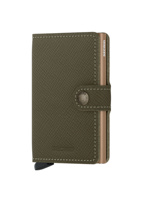 SECRID Saffiano Olive Green Mini Wallet