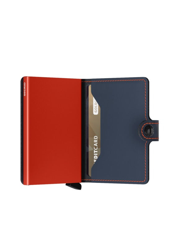 SECRID Night Blue & Orange Matt Mini Wallet
