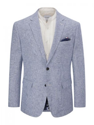 Skopes Blue Basket Weave Blazer