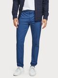 Scotch & Soda Worker Blue Mott Slim Fit Chino