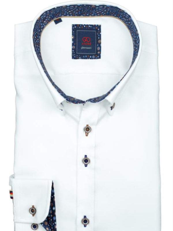 Andre Jeanswear White Long Sleeve Shirt