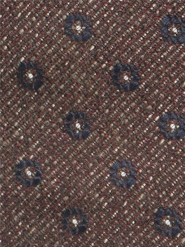 Gibson London Berry Texture Flower Tie