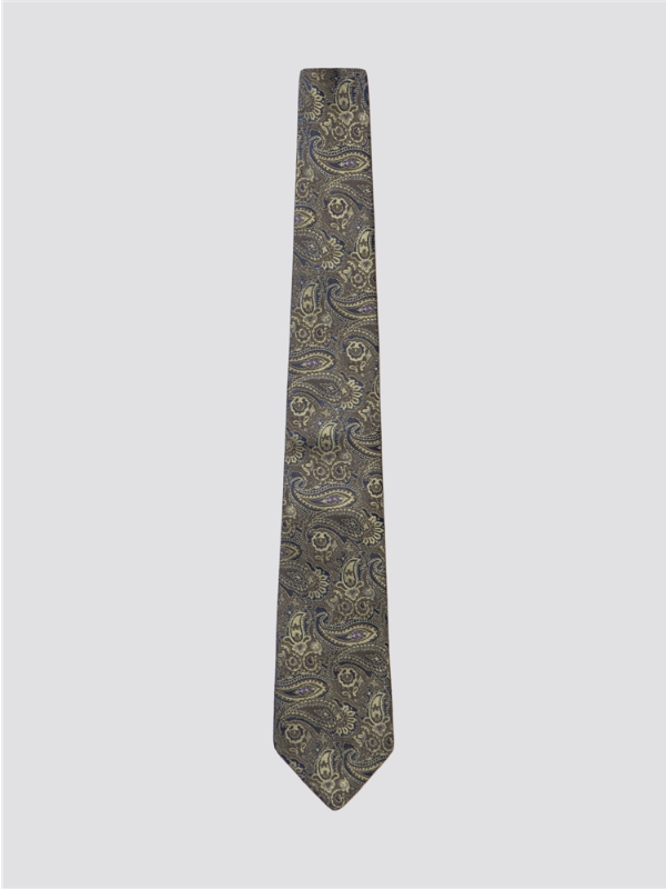 Gibson London Green Tonal Paisley Tie