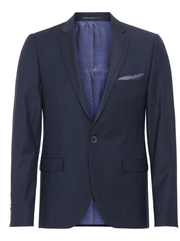 2BLIND2C Shelby Navy Check Jacket