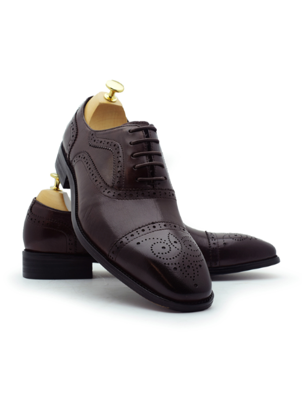 Paolo Vandini Wine Leather Shoe