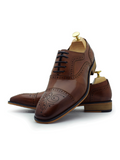 Paolo Vandini Tan Leather Shoe