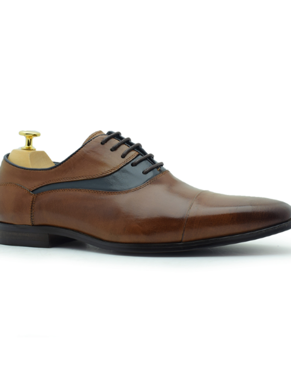 Paolo Vandini Thiago Tan Leather Shoe