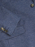 Gibson London Blue Dogtooth Jacket & Waistcoat