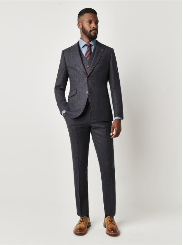Gibson London Charcoal Textured Suit