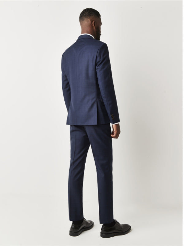 Gibson London Navy Blue Check Suit
