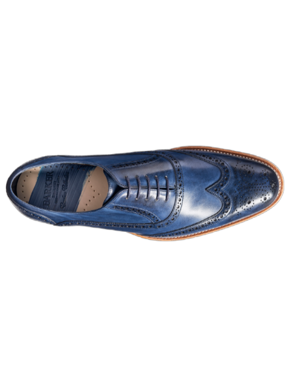 Barker Valiant Navy Hand Painted Shoes