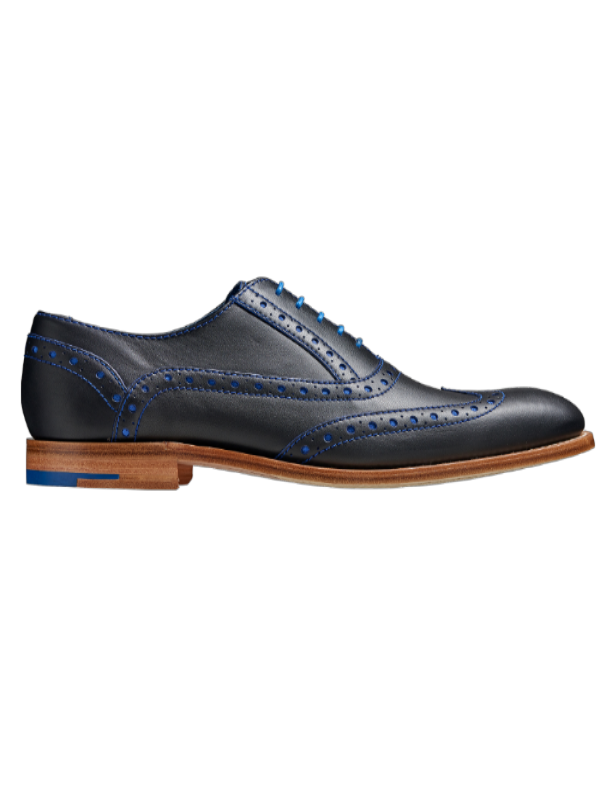 Barker Grant Navy Leather Brogue