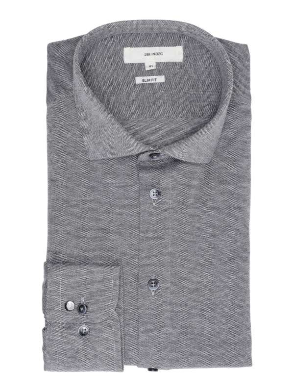 2BLIND2C Slim Fit Grey Shirt