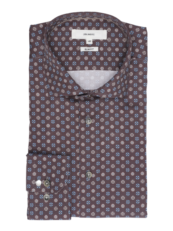 2BLIND2C Burgundy Print Shirt