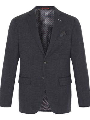 2BLIND2C Dark Brown Birdseye Blazer