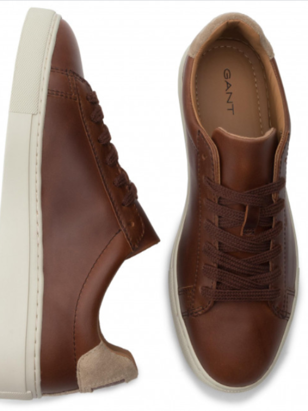GANT Denver Cognac Leather Sneaker